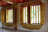 Inside buddhist temple — Stock Photo