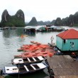 Kayaks in Halong bay, Vietnam — Stock Photo