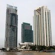 Buildings on the Chao Phraya river — Stock Photo
