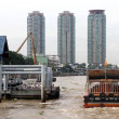 Stock Photo: Buildings on the Chao Phraya river