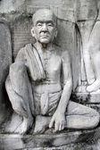 Monk in Santichaiprakan Park — 图库照片