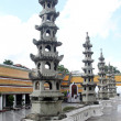 Row of pagodas — Stock Photo