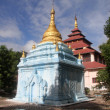 Brick blue stupa — Stock Photo #7624661