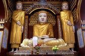 Buddhas in Mohnyin Thambuddhei Paya — Stok fotoğraf