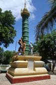 パヤ、茂庭、ミャンマーの列 — ストック写真