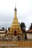 Golden stupas — Stock Photo