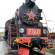 Black locomotive — Stock Photo