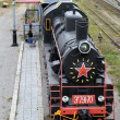 Black locomotive — Stock Photo #7650254