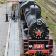 Stock Photo: Black locomotive