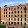 Ruins of red brick mill - Foto de Stock