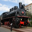 Old soviet black locomotive — Stock Photo #7687184
