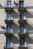 Balconies anmd windows — Stock Photo