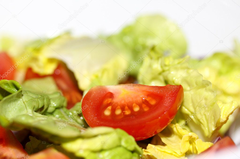 Fresh tomato salad, macro — Stock Photo #7544220