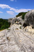 Ancient cave settlement Eski-Kermen — Stock Photo