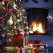 Stock Photo: Christmas Tree and Christmas gift
