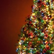 Photo: Art Christmas tree on red background