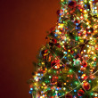 Stock Photo: Art Christmas tree on red background