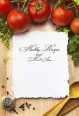 艺术健康食谱和一顿的想法 — 图库照片
