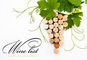Bakgrunden till design en vinlista — Stockfoto