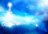 アート抽象的な青いクリスマス背景 — ストック写真