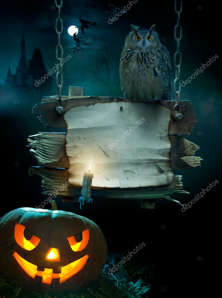 Design background for a party on the night of Halloween — Stock Photo #7091708
