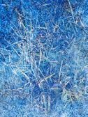 Abstrakt blau Winter Eis Hintergrund — Stockfoto
