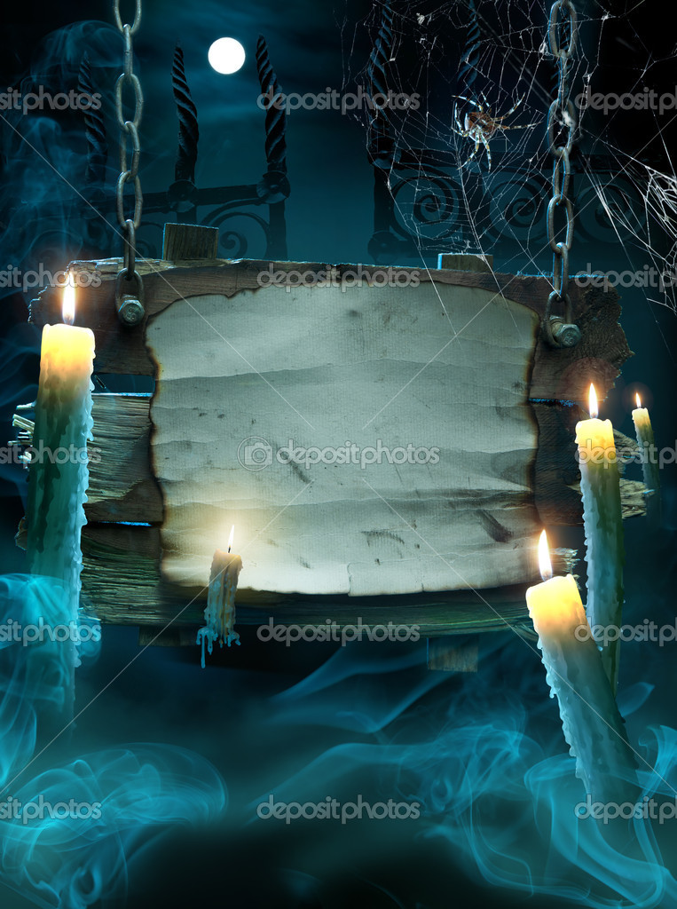 Design background for a party on the night of Halloween — Stock Photo #7277209