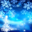 Stock Photo: Art abstract christmas blue background