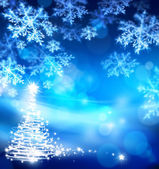 Art abstract christmas blue background — Stock Photo