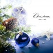 Art Christmas greeting card — Stock Photo #7525868