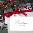 Art Christmas greeting card — Stock Photo