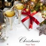 umění vánoční přání — Stock fotografie