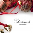 图库照片: Art Christmas greeting card