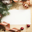 Stock Photo: Art vintage Christmas greeting card