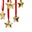 Stock Photo: Christmas decorations on white background