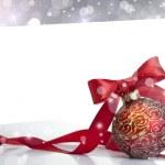 rot Weihnachten bal — Stockfoto