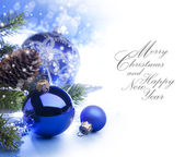 Art Christmas greeting card — Foto Stock