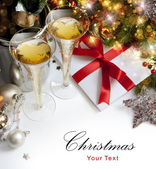 Art Christmas greeting card — Stockfoto