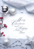 Art Christmas greeting card — Стоковое фото