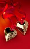 Two Golden Heart — Stok fotoğraf