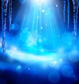 Arte navidad azul abstact — Foto de Stock