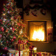 Christmas Tree and Christmas gift — Foto Stock