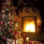 Christmas Tree and Christmas gift — Stock Photo