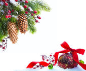 Art Christmas tree sheltered snow — Foto Stock