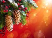 Art Christmas snowy tree — Stock Photo