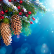 Art snowy Christmas tree — Stock Photo #7845131