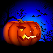 Halloween bakgrund — Stockvektor