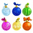 Stock Vector: Set of Christmas balls