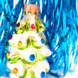 Foto Stock: Glass Christmas tree toy