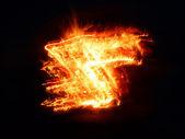 Streaks of flame — Stock Photo